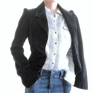 Joie Black Velvet Blazer Size S